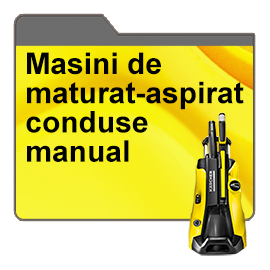 Masini de maturat-aspirat conduse manual