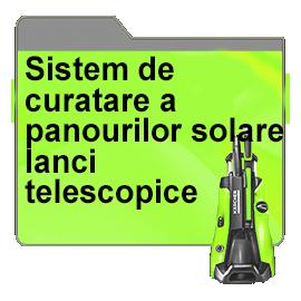 Sistem de curatare a panourilor solare - lanci telescopice