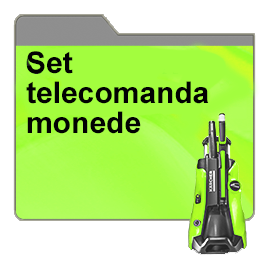 Set telecomanda monede