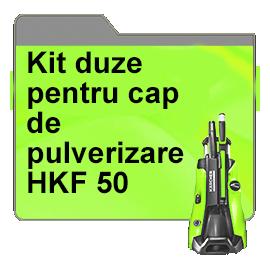 Kit duze pentru cap de pulverizare HKF 50