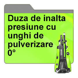 Duza de inalta presiune cu unghi de pulverizare 0°