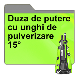 Duza de putere cu unghi de pulverizare 15°