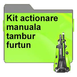 Kit actionare manuala tambur furtun