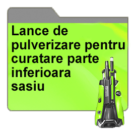 Lance de pulverizare pentru curatare parte inferioara sasiu